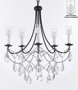 Crystal Chandelier Lighting With Candle Votives H22.5 W26 For Indoors/Outdoors - Thumbnail 0