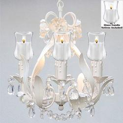 Empress Crystal Flower Chandelier Lighting With Candle Votives - Thumbnail 0