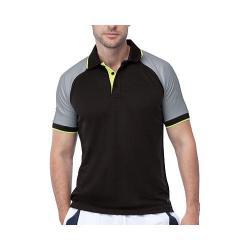 Men's Fila Reflex Polo Black/Highrise/Safety Yellow