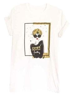 "Graffiti and Gold Arabic Graphic ""TURBAN GIRL"" Short Sleeve T-shirt"