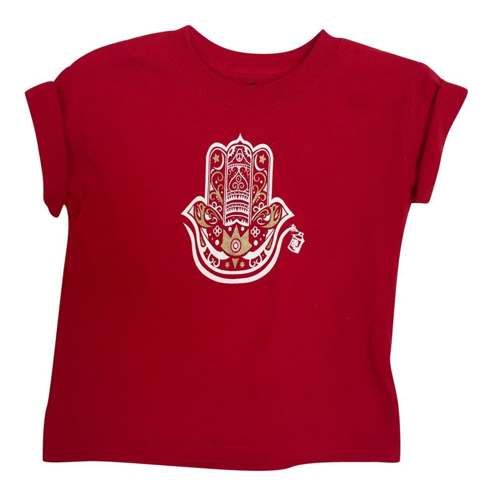Boy's Hamza Hand Red Short Sleeve Graphic Tshirt