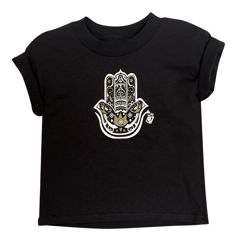 KID'S HAMZA HAND TEE- BLACK