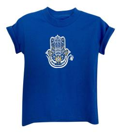 Boy's Hamza Hand Royal Blue Short Sleeve Graphic Tshirt