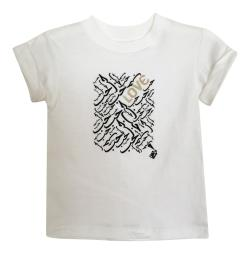 LITTLE GIRL'S LOVE TEE- WHITE
