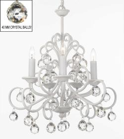 Bellora Crystal White Wrought Iron Chandelier Lighting With Facet