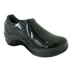 Women's Genuine Grip Footwear Slip-Resistant Slip-on Zipper Black Patent