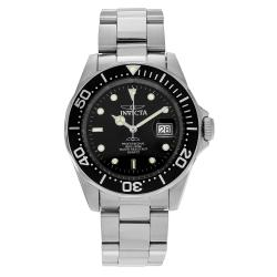 Invicta Men's Pro Diver 9307 Stainless Steel Black Dial Bracelet Watch
