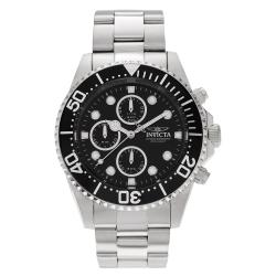 Invicta Men's Pro Diver 1768 Stainless Steel Coin Edge Bezel Chronograph Link Watch