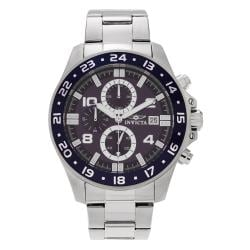 Invicta Men's Pro Diver 13865 Stainless Steel Blue Dial Chronograph Bracelet Watch