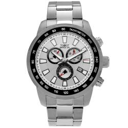 Invicta Men's 1554 Specialty Stainless Steel Siver Dial Tachymeter Chronograph Link Watch