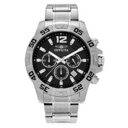 Invicta Men's Specialty 1501 Stainless Steel Black Dial Chronograph Bracelet Watch