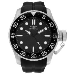 Invicta Men's Pro Diver 17510 Stainless Steel Black Dial Silicone Strap Watch