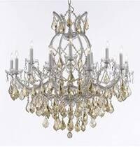 Maria Theresa Chandelier Lighting Crystal Lighting With Golden Teak Crystal H38 x W37