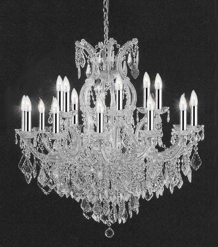 Empress Crystal Crystal Chandelier Lighting With Chrome Sleeves
