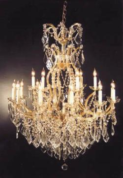 Chandelier Crystal Lighting Chandelier H44 x W37
