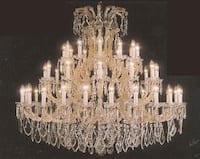 Chandelier Crystal 37 Lights H52 x W46 Gold