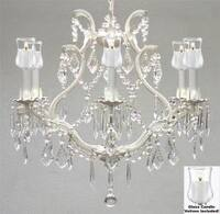 Empress Crystal Chandelier Lighting With Candle Votives H19 x W20