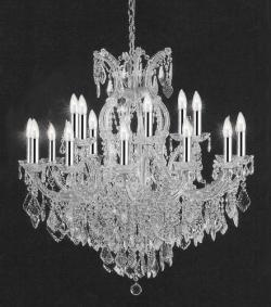 Empress Crystal Crystal Chandelier Lighting With Chrome Sleeves - Thumbnail 0