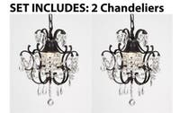 Chandelier s Wrought Iron Crystal Chandelier & Pendant Lighting  H14 x W11