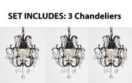 Chandelier Wrought Iron Crystal Chandelier & Pendant Lighting  H14 x W11