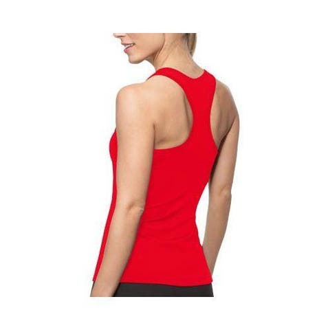 Women's Fila Core Racerback Tank Top Crimson