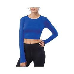 Women's Fila Cali Cropped Crew Top Violet Blue