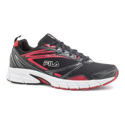 Men's Fila Royalty Running Shoe Black/Fila Red/White