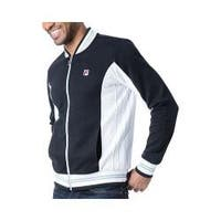 Men's Fila Settanta Jacket Black/White/Quarry