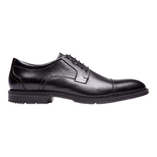 Men's Rockport City Smart Cap Toe Oxford Black Leather - Thumbnail 1