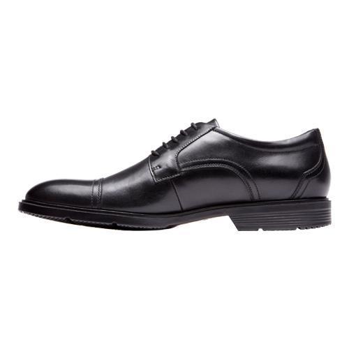 Men's Rockport City Smart Cap Toe Oxford Black Leather - Thumbnail 2
