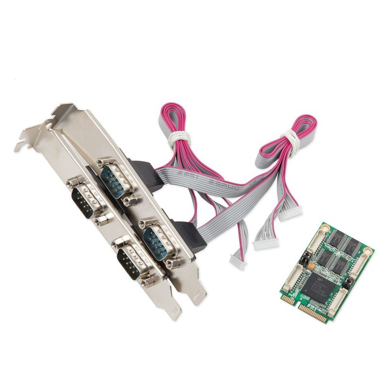 IO Crest 4-Port Serial Mini PCI-E Controller Card