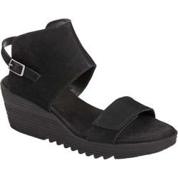 Women's Aerosoles In The Bog Wedge Sandal Black Nubuck