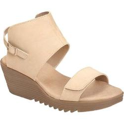 Women's Aerosoles In The Bog Wedge Sandal Bone Nubuck