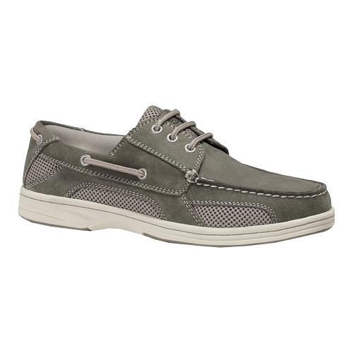 Men's Dockers Waterview Lace Up Boat Grey Soft Genuine Leather