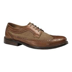 Men's Dockers Hathaway Wing Tip Oxford Tan/British Tan Full Grain/Suede