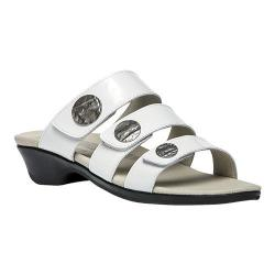 Women's Propet Annika Slide White Patent Leather