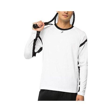 Men's Fila Platinum Long Sleeve Top White/Black