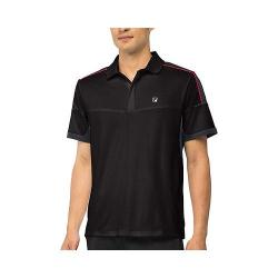 Men's Fila Adrenaline Polo Black/Nine Iron/Chinese Red