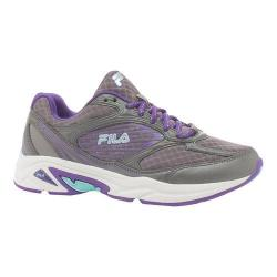 Women's Fila Inspell 3 Running Shoe Dark Silver/Electric Purple/Aruba Blue
