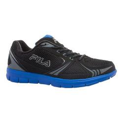 Men's Fila Luxey Running Shoe Black/Black/Prince Blue