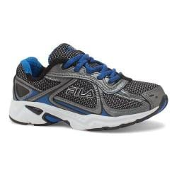 Boys' Fila Quadrix Running Shoe Black/Dark Silver/Prince Blue