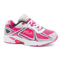 Girls' Fila Quadrix Running Shoe Knockout Pink/Metallic Silver/Vibrant Orange