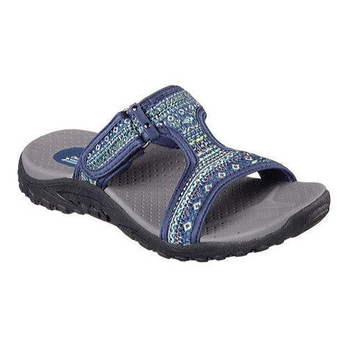 Skechers Shoes Skechers Reggae Ethnic Vibe Womens Sandals Navy Multi