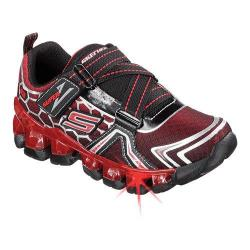 Boys' Skechers S Lights Flashpod Black/Red