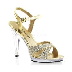 Women's Fabulicious Flair 419G Gold Multi Glitter/Clear