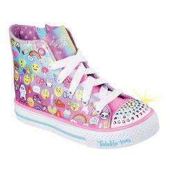 Girls' Skechers Twinkle Toes Shuffles Chat Time High Top Sneaker Multi