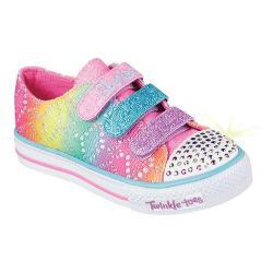 Girls' Skechers Twinkle Toes Shuffles Rainbow Madness Sneaker Multi