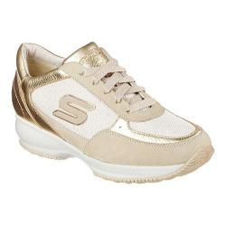Women's Skechers Wedge Fit Activate Sneaker Gold