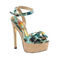 Women's Luichiny Love Potion Stiletto Sandal Tropical Fabric
