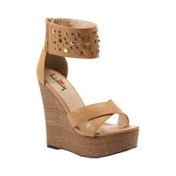 Women's Luichiny Min Dee Wedge Sandal Tan Imi Leather